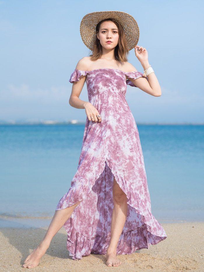 ハワイ発リゾートファッションブランドtiare hawaii(ティアレハワイ)のロングワンピース