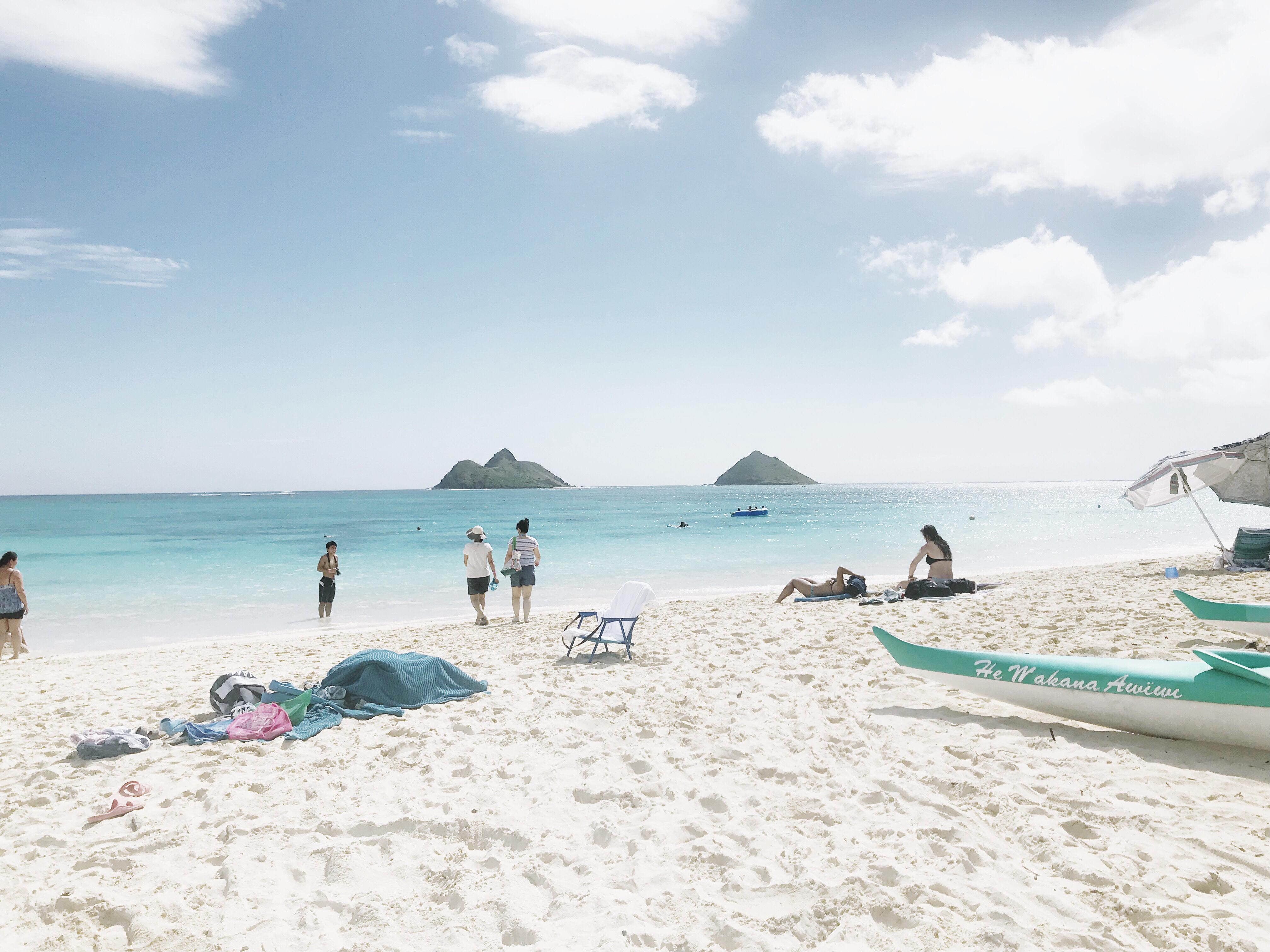翡翠色の美しい海が天国のようなビーチ
