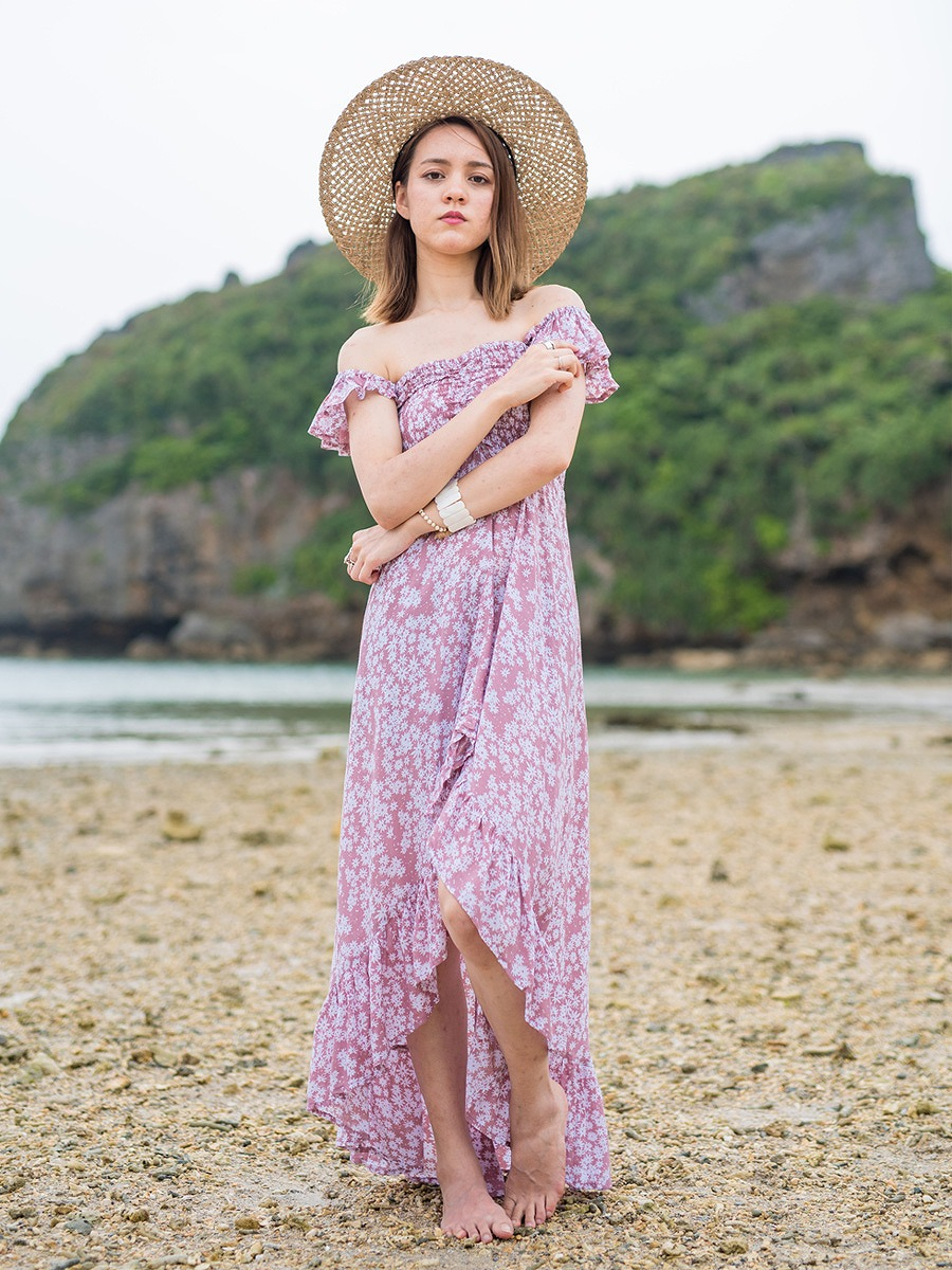 Tiare Hawaii(ティアレハワイ)ブルックリンマキシワンピース/小花柄
