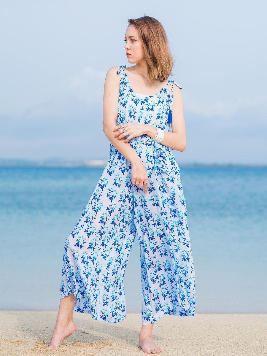 Tiare Hawaii(ティアレハワイ)フレンチオールインワン/ホワイト