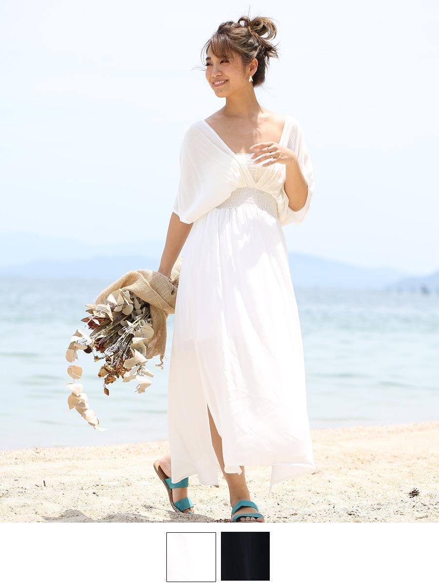 LAUT BLUE(ラウトブルー)ラヘルマキシワンピ