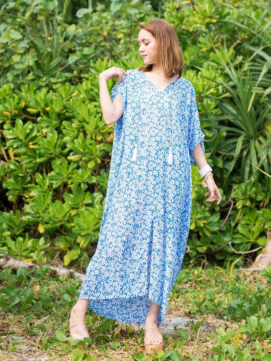 LAUT BLUE(ラウトブルー)シェリーマキシワンピース/花柄