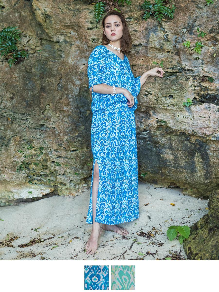LAUT BLUE(ラウトブルー)スマラマキシワンピース