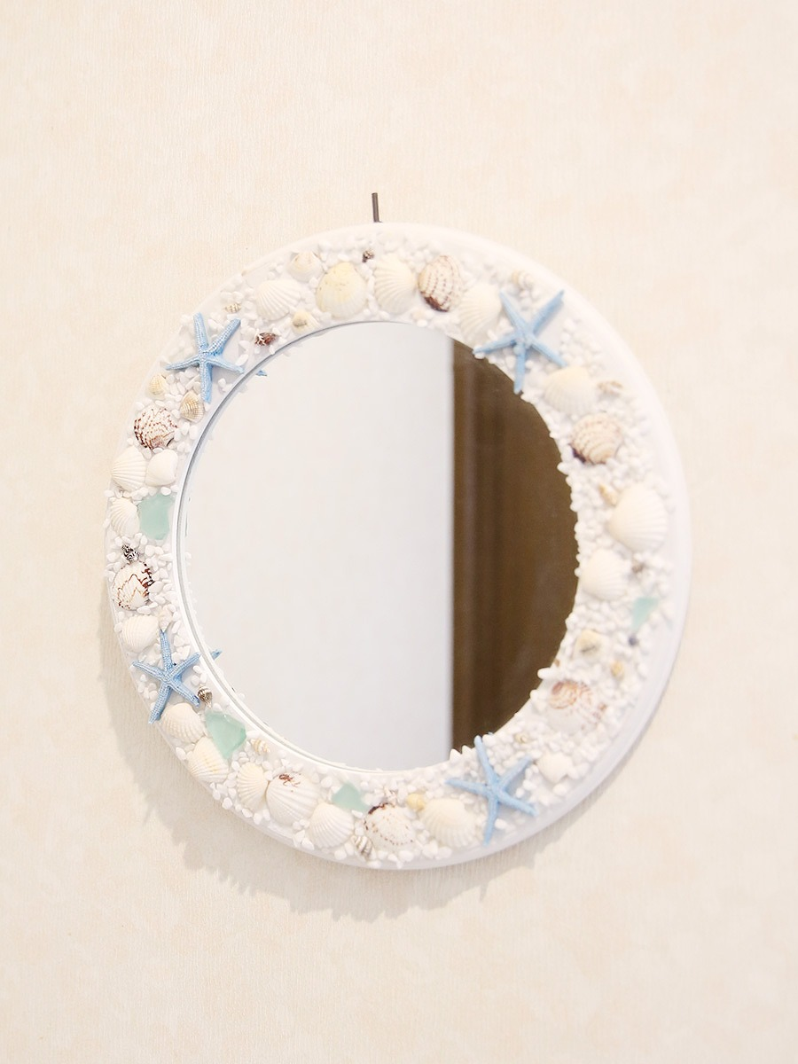 ビーチスタイル円形ミラー