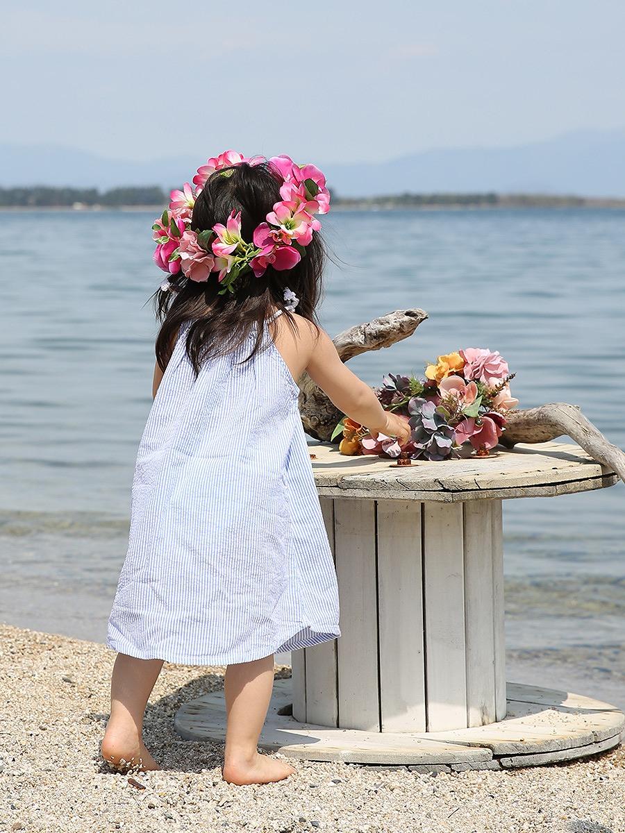前撮り写真やウェディングにピッタリなキッズ花冠