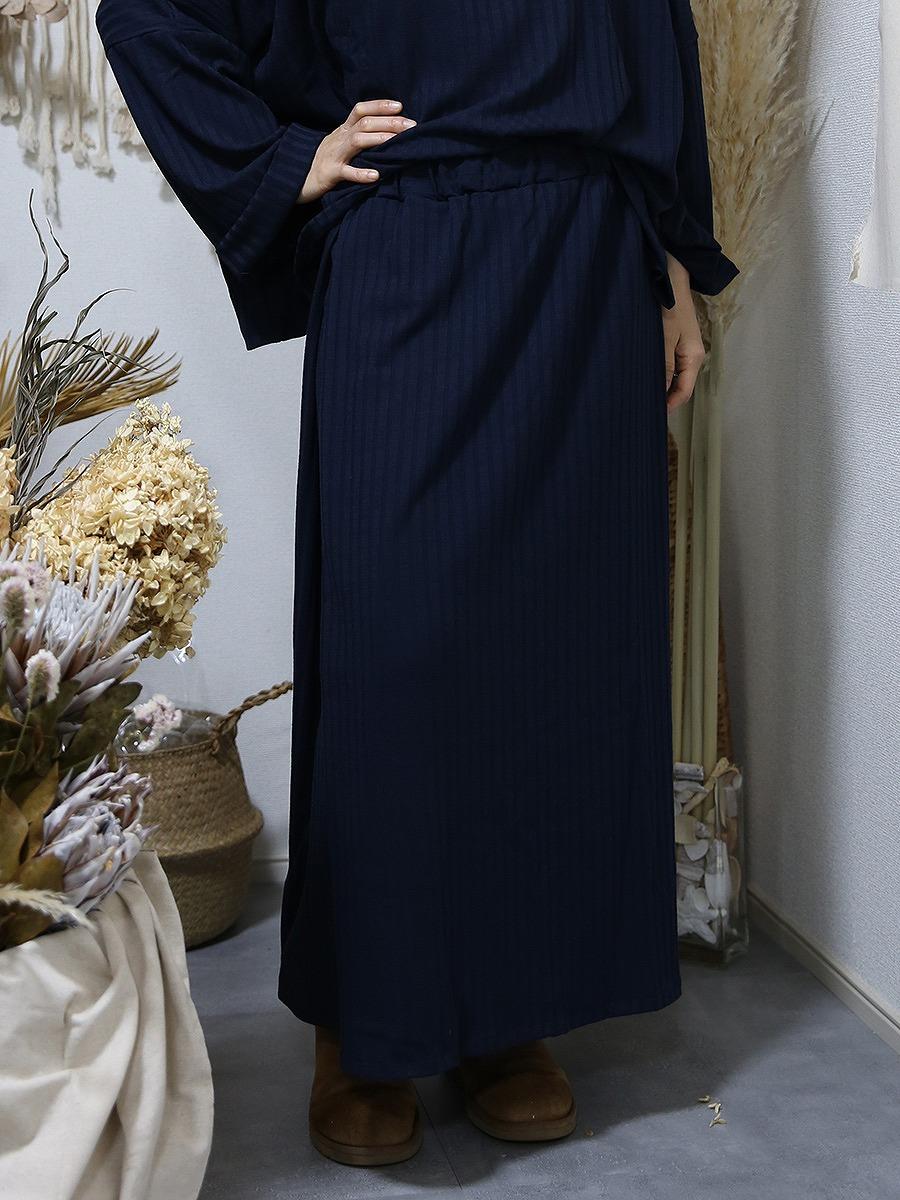 MOLABI(モラビ)薄手リブニットマキシスカート