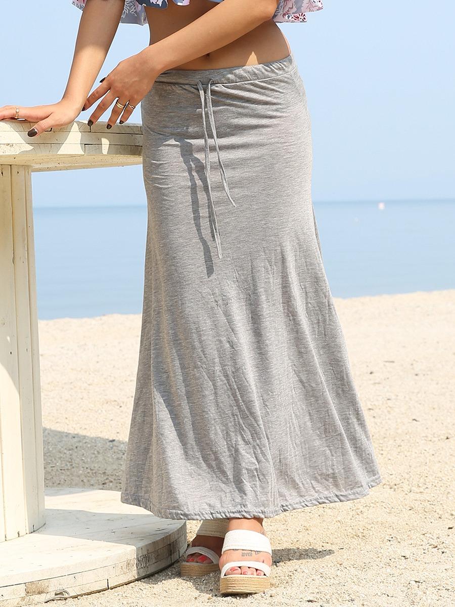 roomy by the sea(ルーミーバイザシー)ジャージ素材のマーメイドマキシスカート
