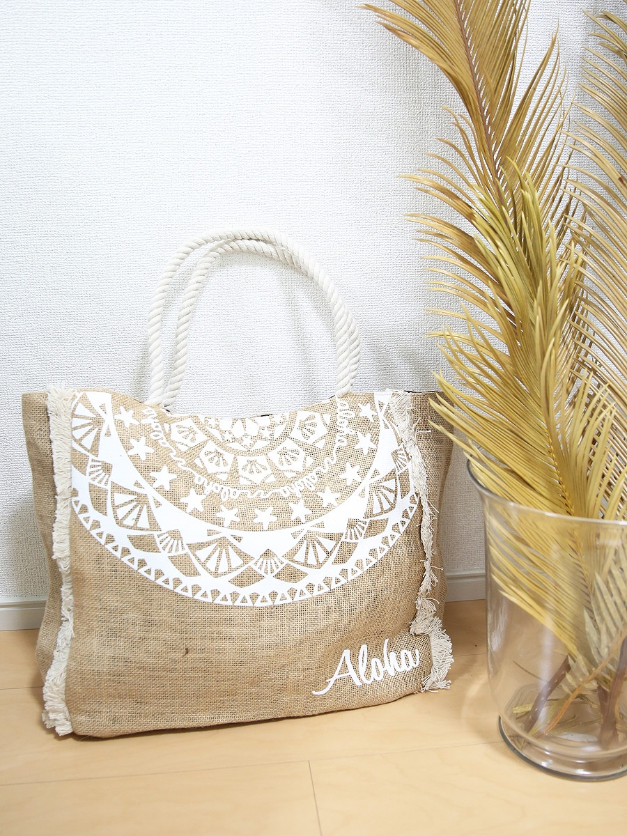 Alohaボヘミアンジュートバッグ