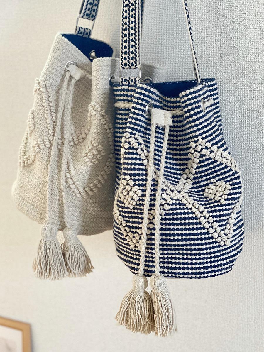 インド織りのタッセルが可愛いショルダーバッグ