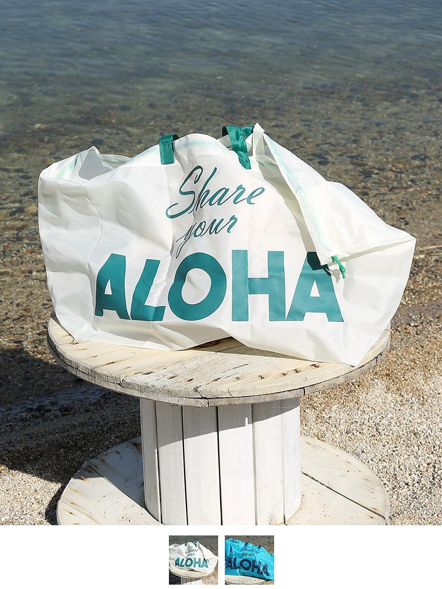 Alohaテキストマップエコバッグ