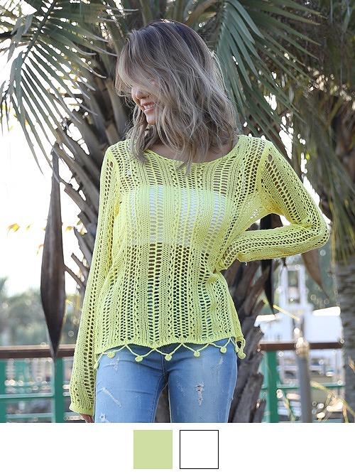 RVCA(ルーカ)ざくざく編みサマーニットセーター