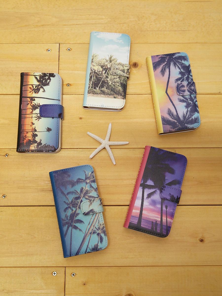 ハワイアンコレクションiPhone5/iPhone5s/iPhoneSE手帳型スマホケース