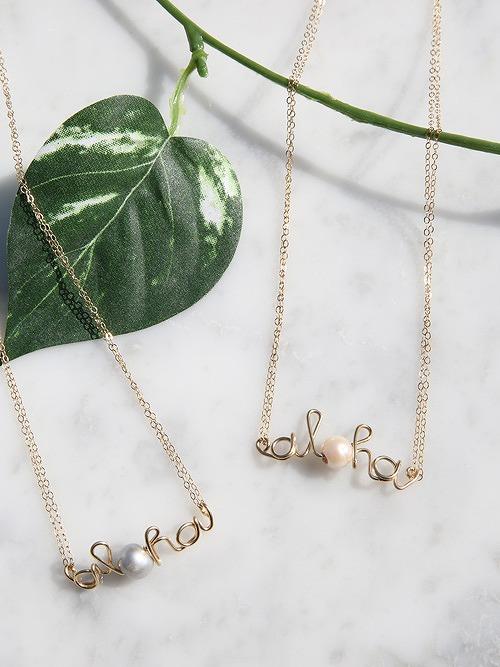 tidepool love(タイドプールラブ)Aloha Mini Necklace (14k goldfill)
