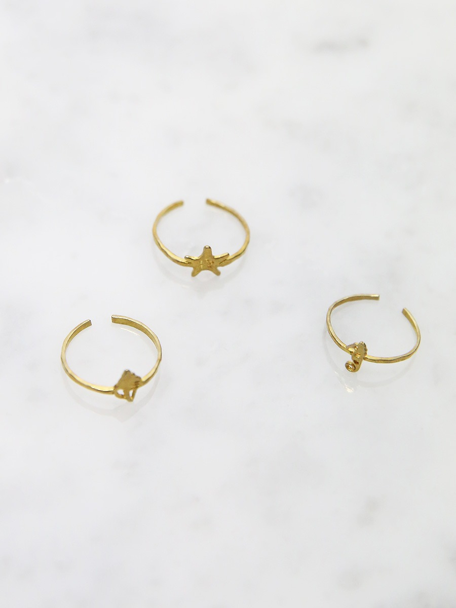 chibi jewels(チビジュエルズ)シーシェルコレクションフットリング