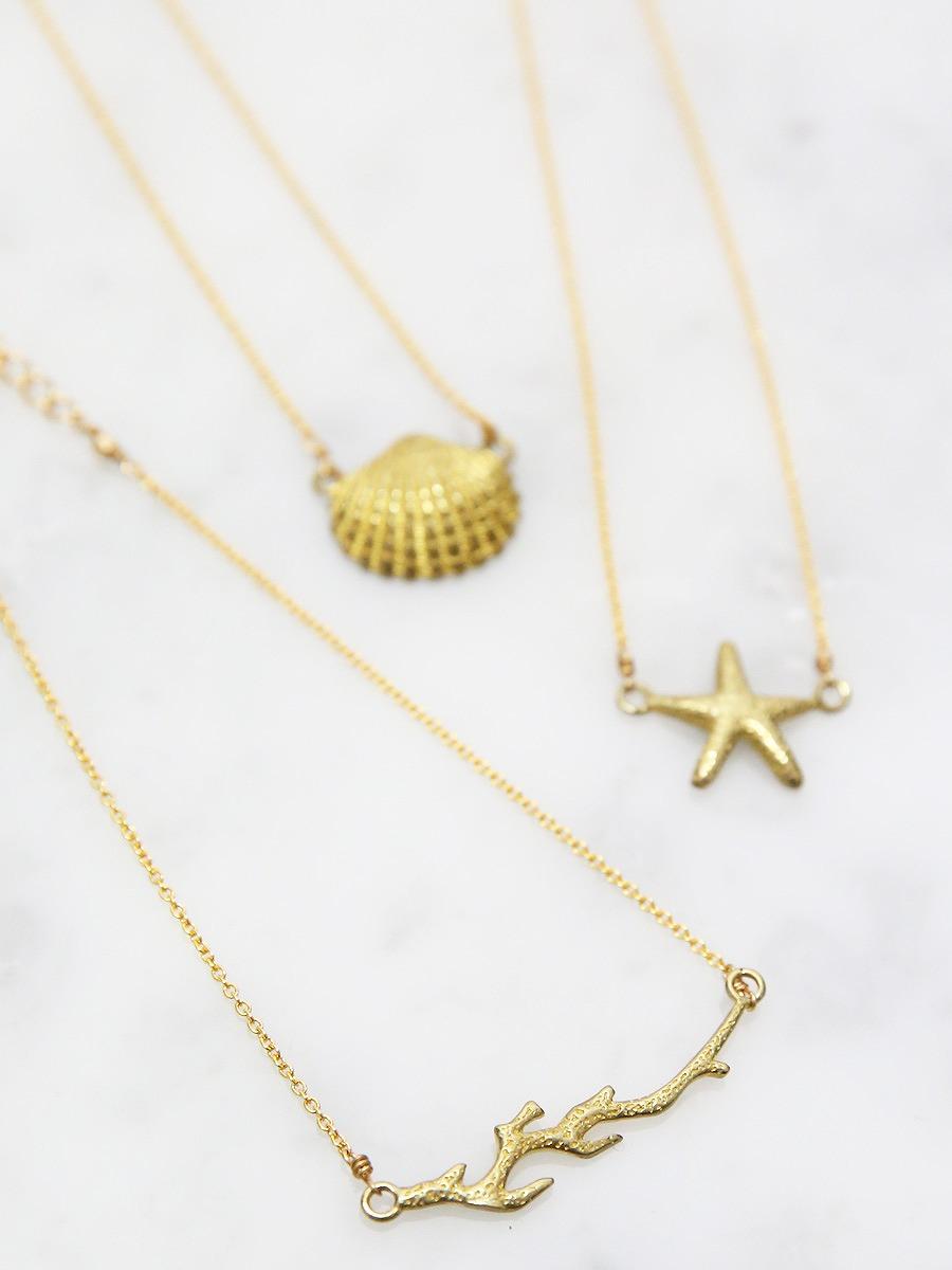 chibi jewels(チビジュエルズ)シーシェルチェーンアンクレット