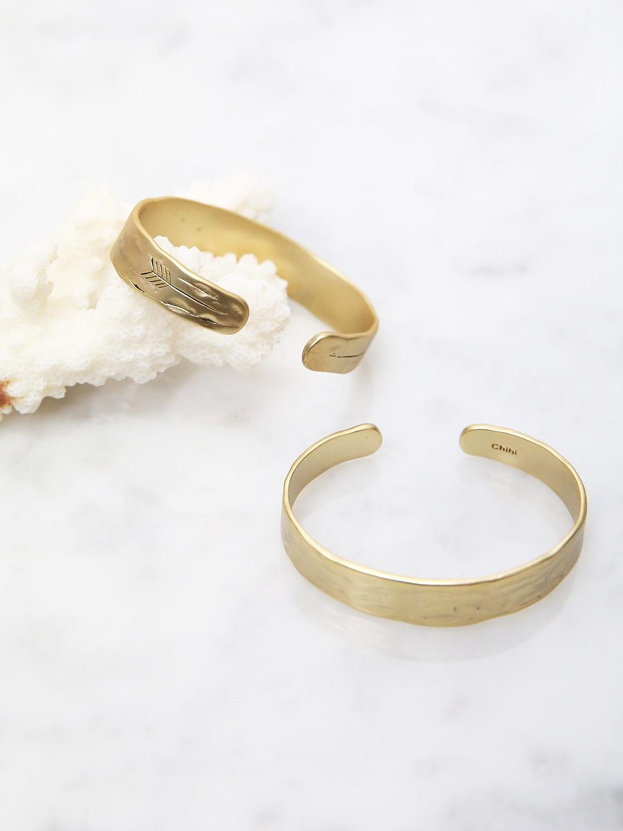 chibi jewels(チビジュエルズ)ブロークンアローカフバングルブレスレット