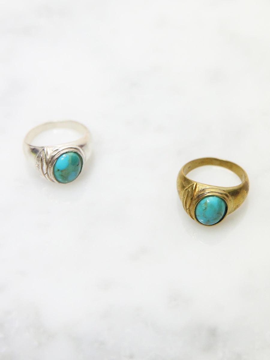 chibi jewels(チビジュエルズ)ターコイズリング シルバー/ゴールド