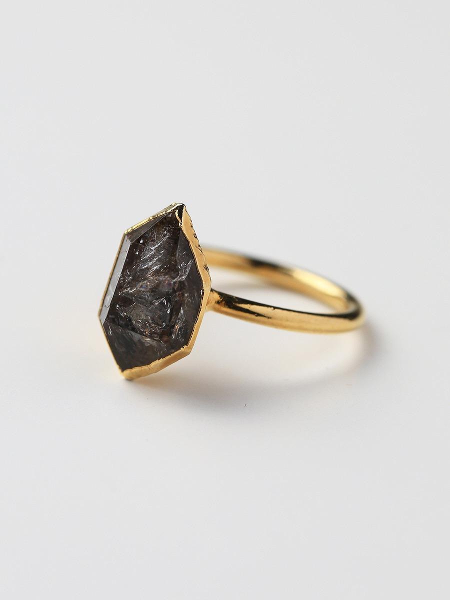 LUX divine(ラックスディヴァイン)Herkimer Ring 24K Gold