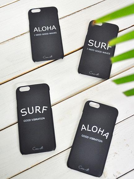 Crest(クレスト)ALOHA/SURFのシンプルクールなiPhoneケース