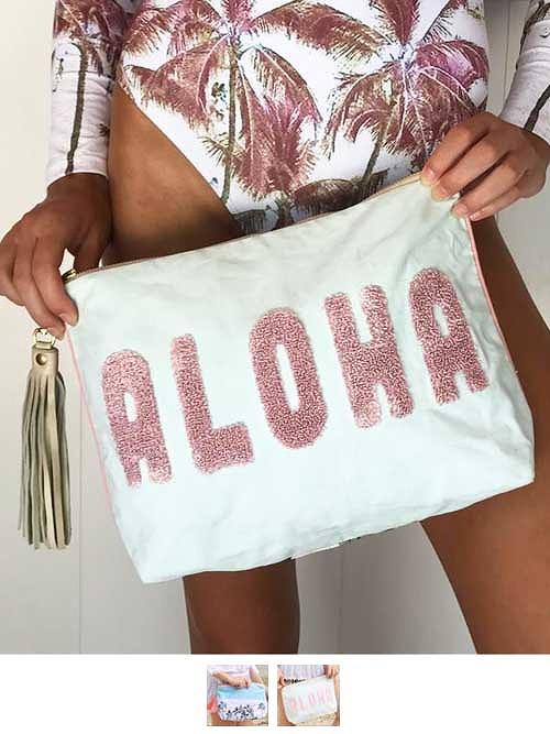 ハワイテイストのクラッチバッグ